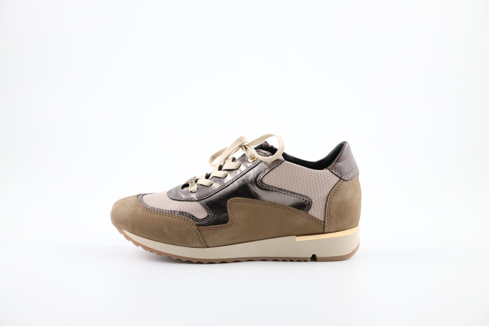 DL Sport Sneackers Taupe/Bronze dames (Quito - 4817) - Marques à Suivre