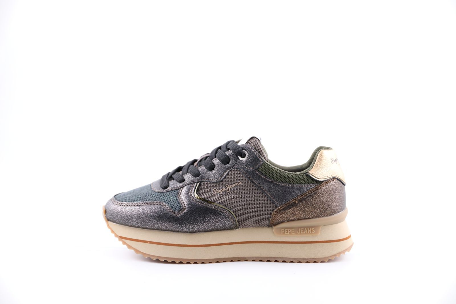 Pepe Jeans Sneackers Bronze/Kaki dames (Rusper City - PLS31068) - Marques à Suivre
